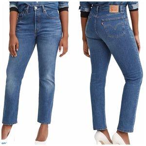 NEW Levi's 501 Original High Rise Straight Jeans
